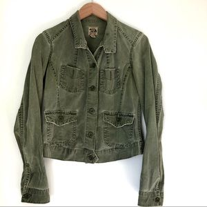 Lucky Brand Army green jean jacket